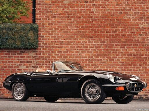 jaguar type e v12 serie 3 Roadster  black edition
