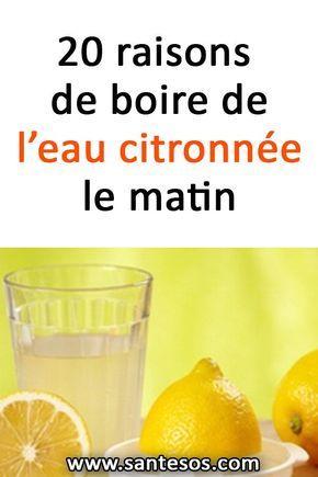 20 raisons de boire de l'eau citronnée le matin | Eau