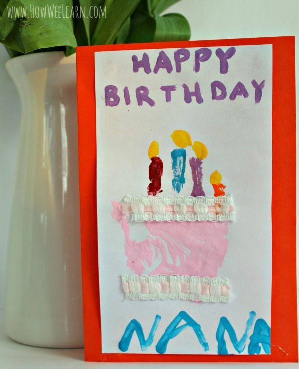 Birthday Card Ideas For Toddlers To Make Part - 19: An Adorable Homemade Birthday Card