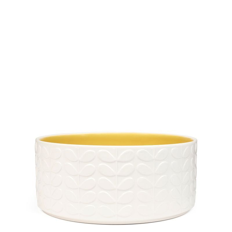Orla Kiely Raised Stem Salad Bowl Yellow From Www