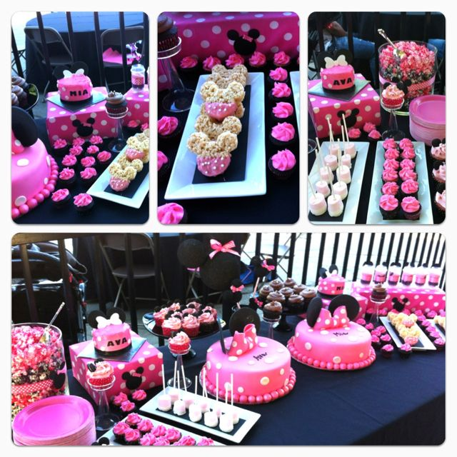 Minnie Mouse Dessert Table With Images Minnie Mouse Baby