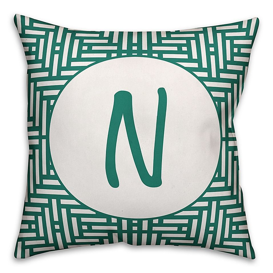 Monogram Indooroutdoor Throw Pillow