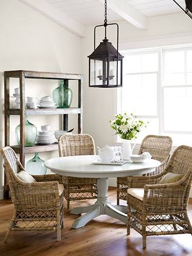 exterior furniture in interior space coastal and textured- Get these chairs at www.bungalowfurniture.com