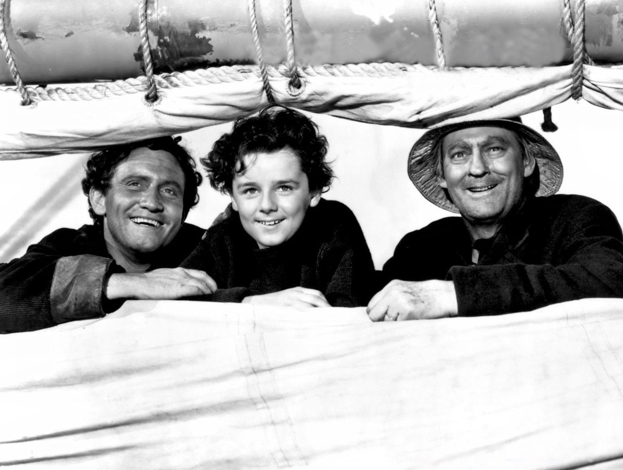 Spencer Tracy Freddie Bartholomew And Lionel Barrymore In