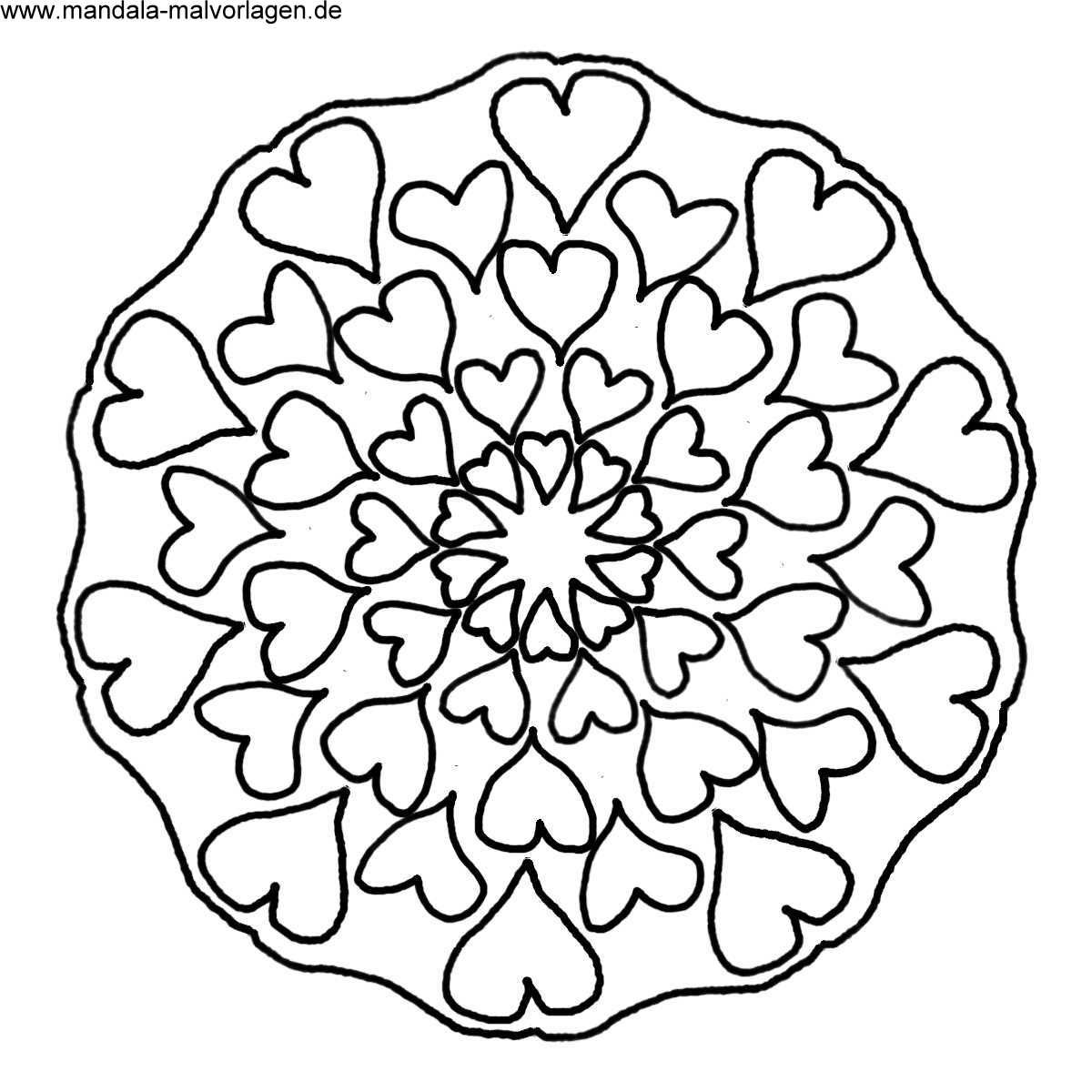 Malvorlagen Mandala Herzen | My blog