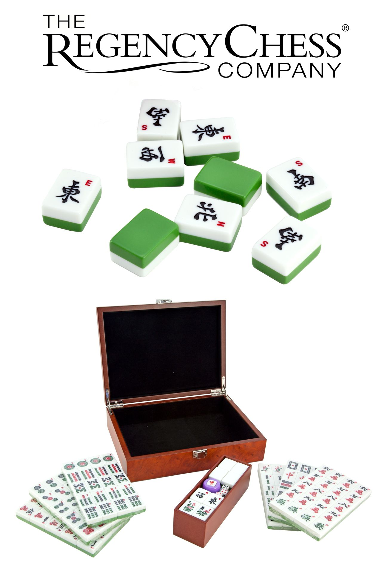 Beautiful traditional Mahjong set, presented in a stunning