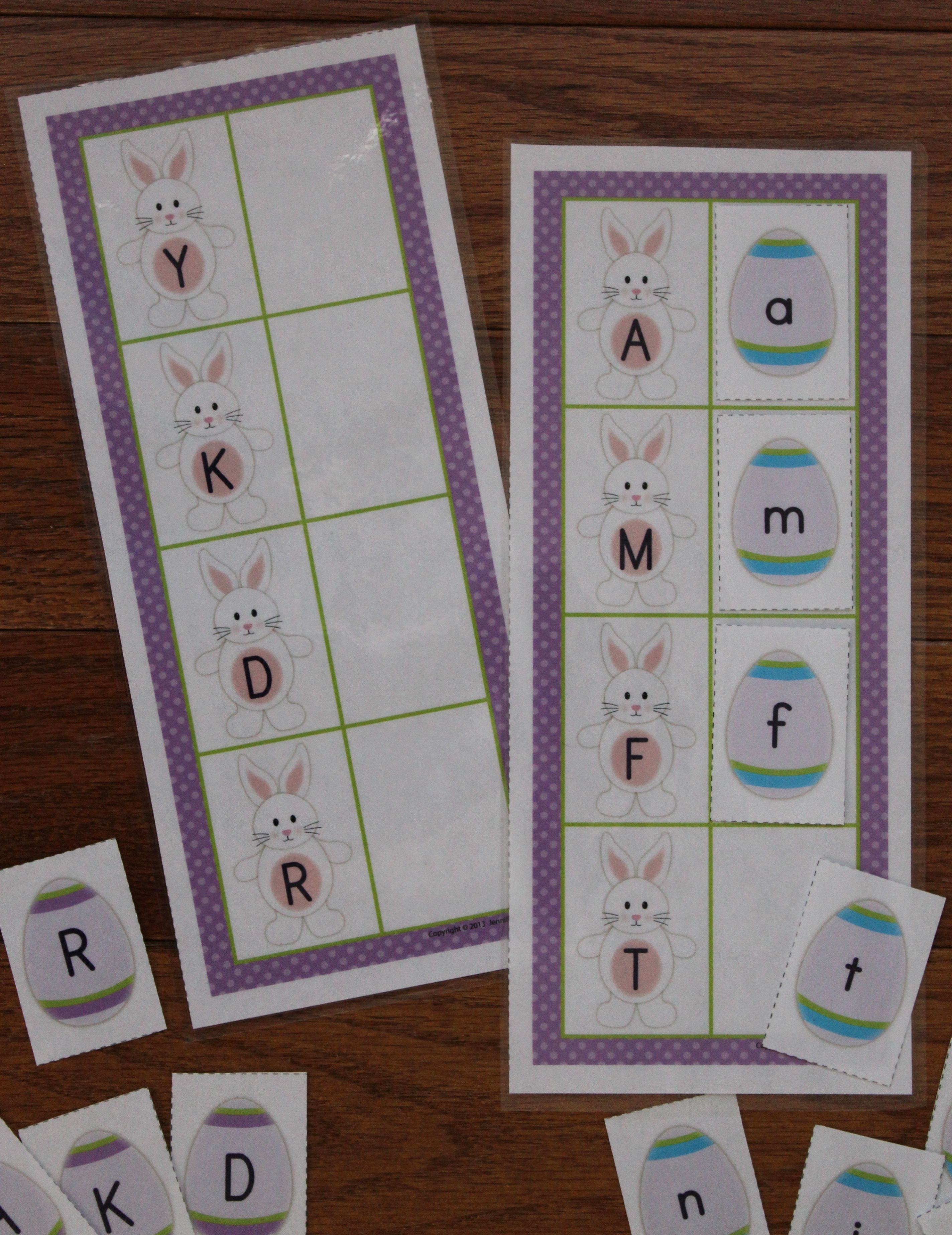 Easter Bunny Abc Match