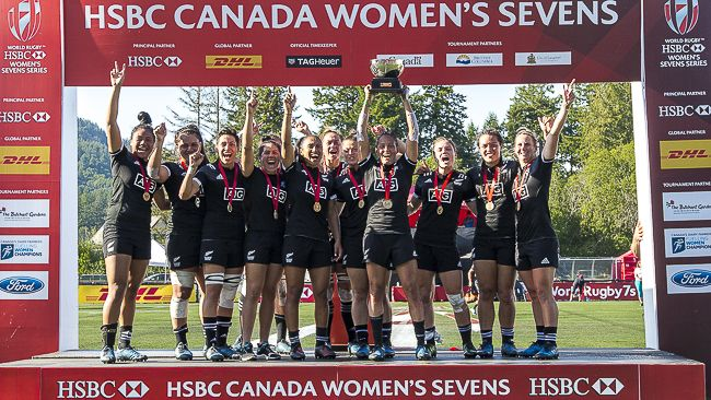 New Zealand Black Ferns Win Hsbc Canada Sevens Canadian 7 S Women Silver Medalists Women World Rugby Hsbc