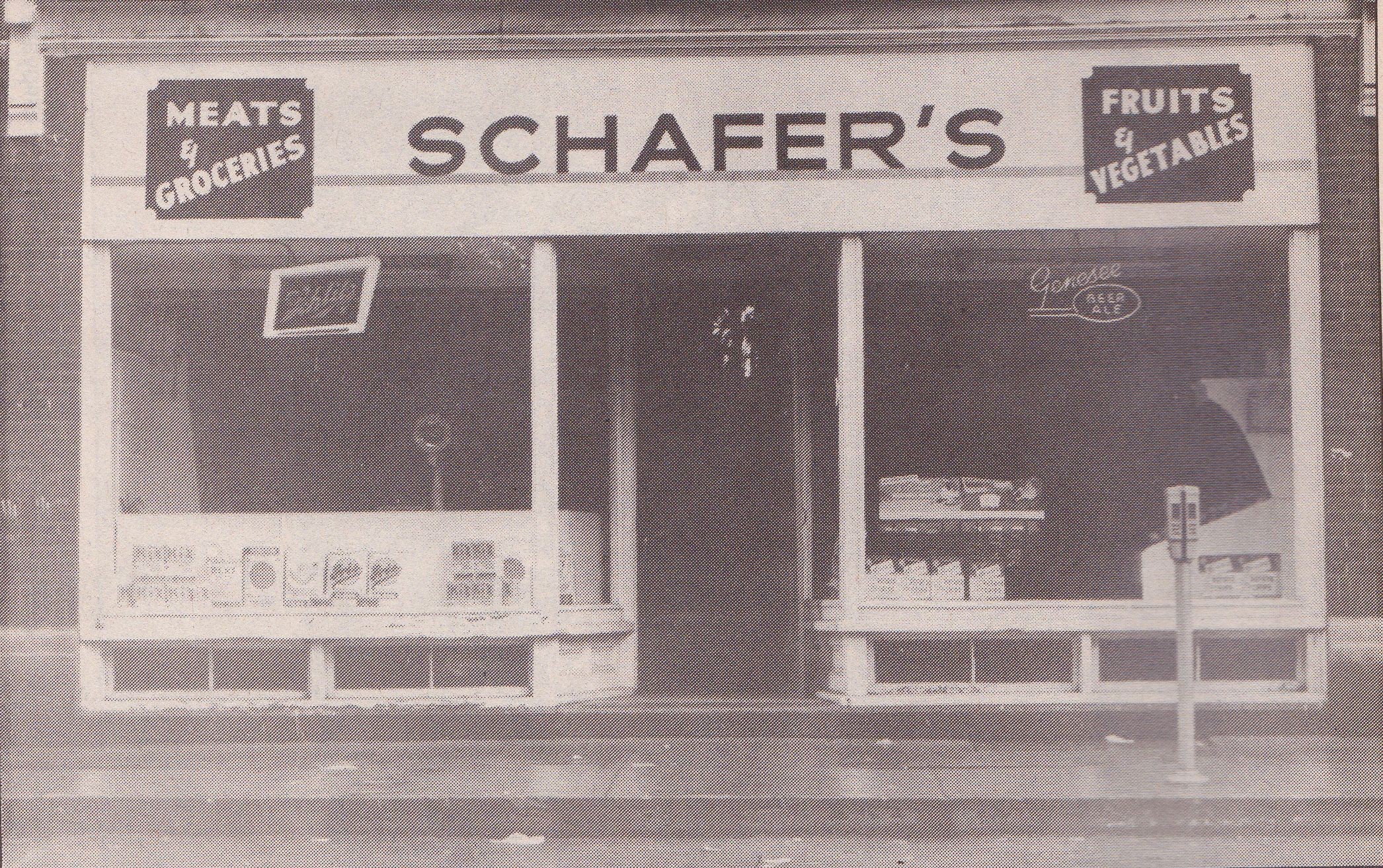 George Schafer operated Schafer's Market on James Street in Clayton from the early 1900's to 1968. It then became the Nutshell.