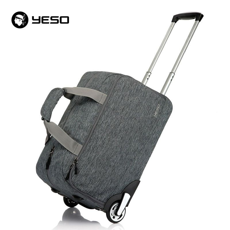 b0ddbdfe1325 YESO Trolley Travel Bag Hand Luggage 20 inch 32L Rolling Duffle Bags  Waterproof Oxford Suitcase Wheels Carry On Luggage Unisex