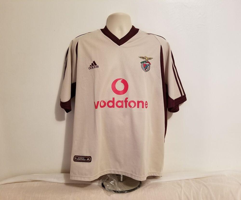 fdb7979e9 Adidas S.L. Benfica E Pluribus Unum Mens Large Portugal Cream Soccer Jersey