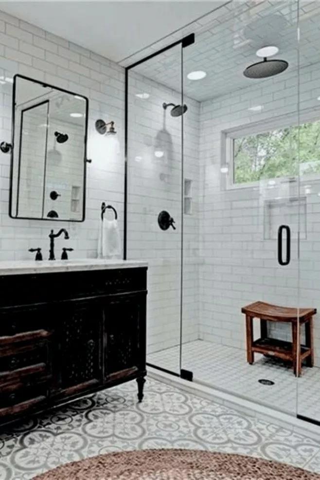 33 Cute Farmhouse Bathroom Remodel Ideas On A Budget 11 With