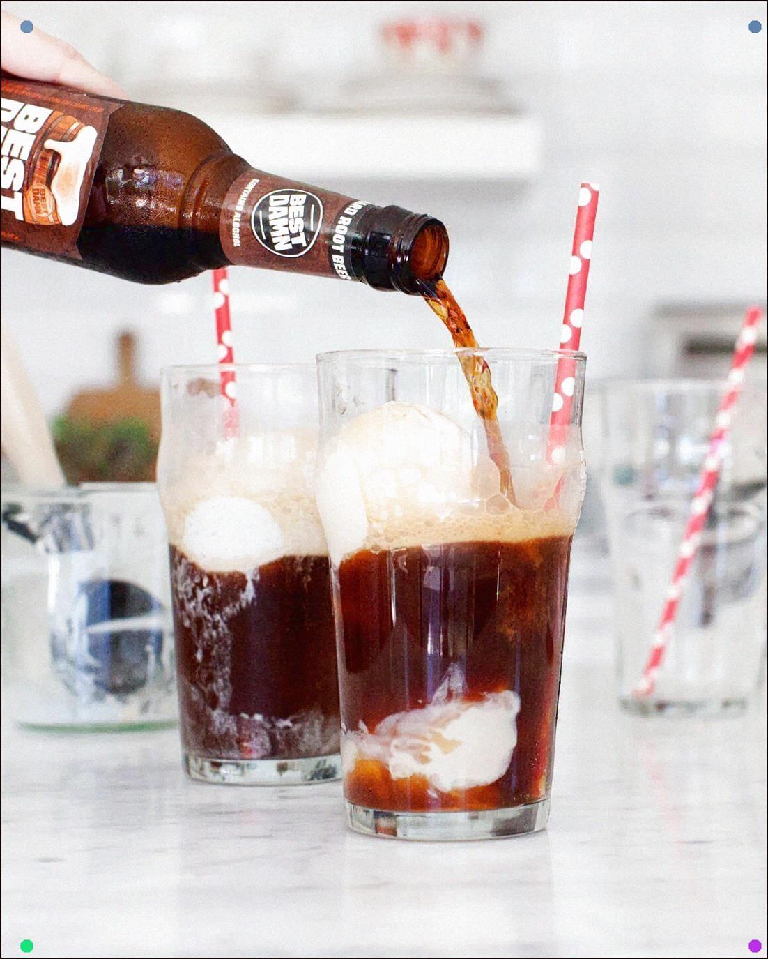 Boozy Root Beer Floats #rootbeerfloat