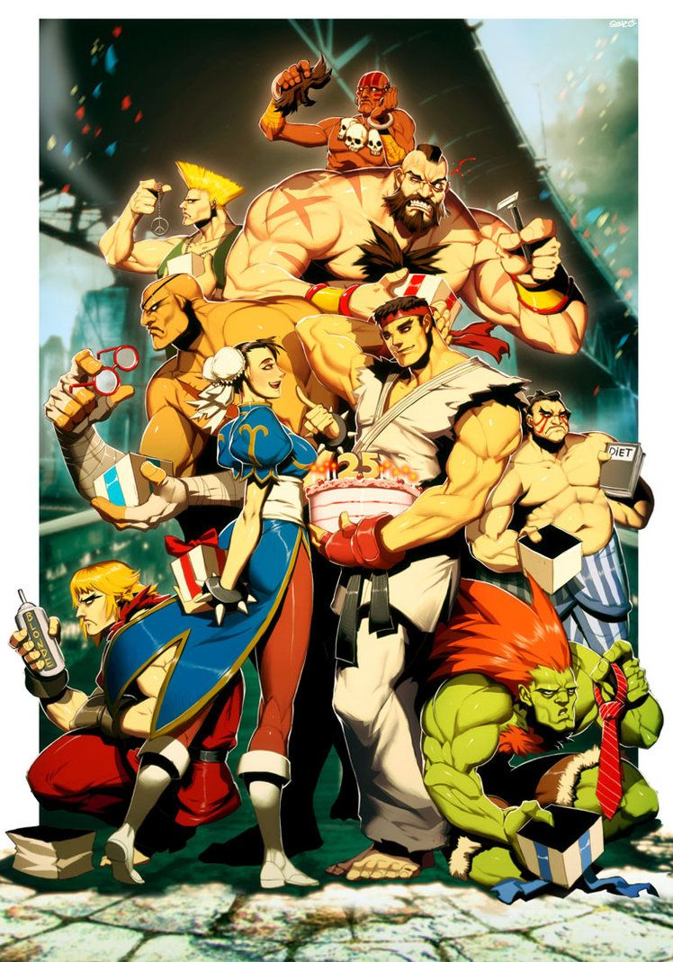 Street Fighter 25th Anniversary tribute by GENZOMAN on