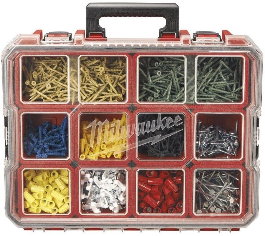 "New 16/"" Plastic Tool Box Case with Handle Lid Storage Organiser Utility Garage"