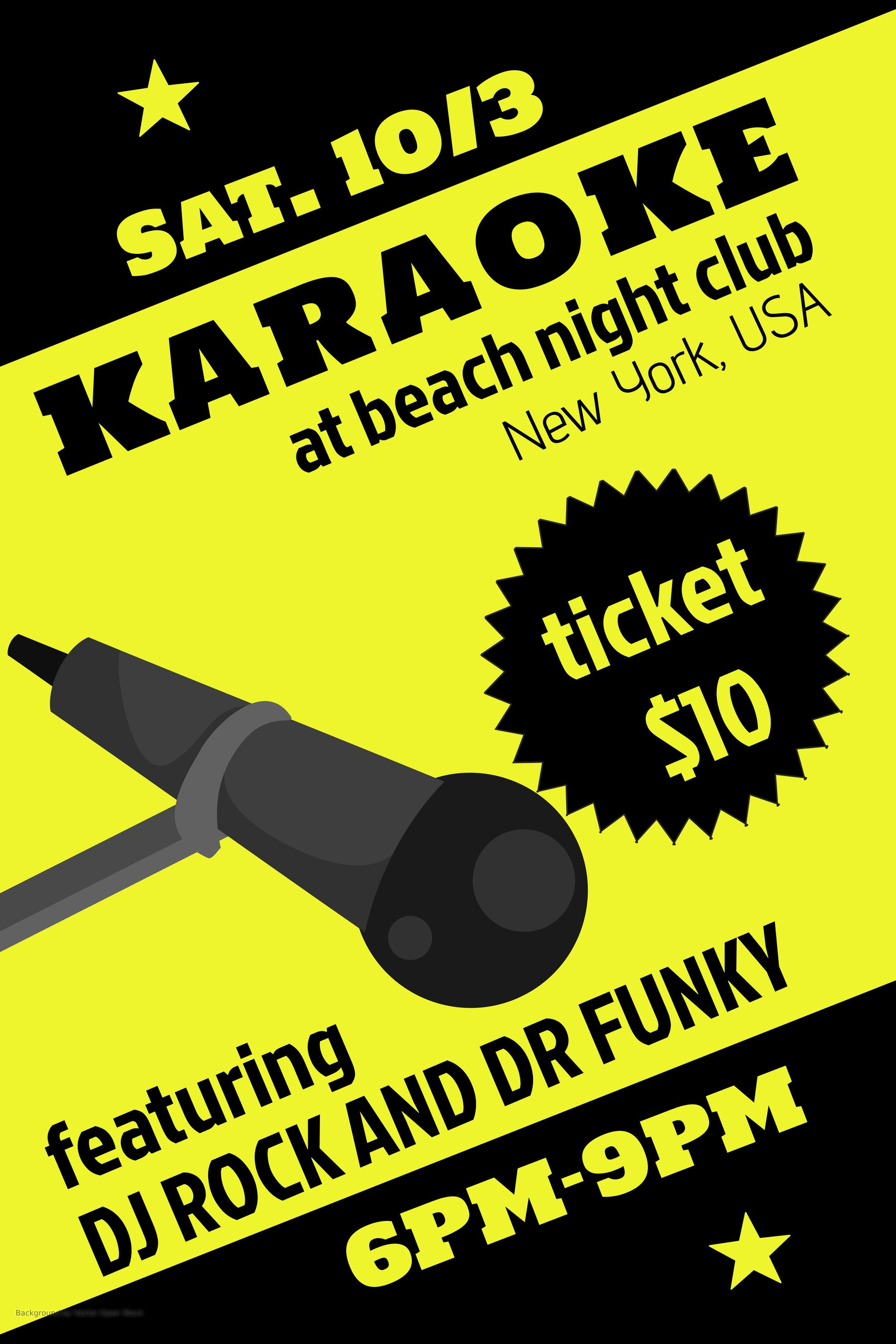 Poster design maker - Karaoke Party Night Flyer Design Template Click To Customize