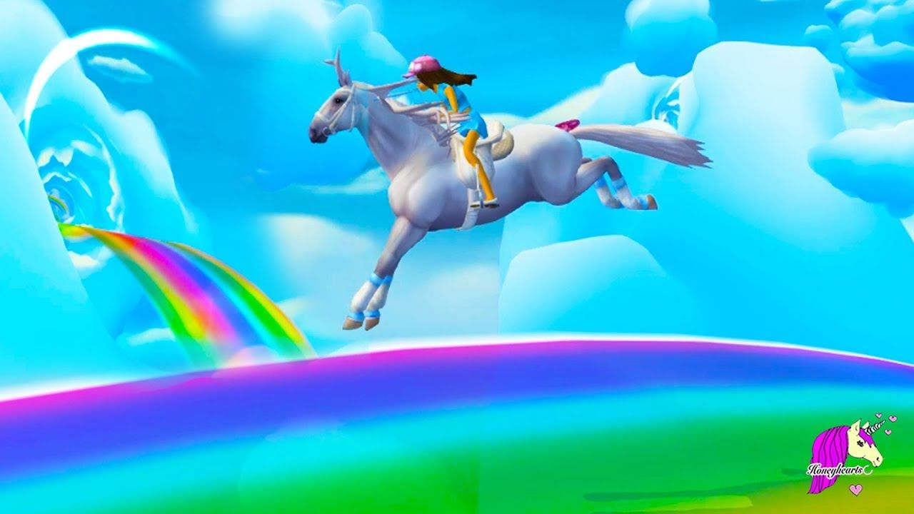 Amazing Cloud World Rainbow Race Gold Horse Shoes Star Stable Online Star Stable Horse Star Gold Horse [ 720 x 1280 Pixel ]
