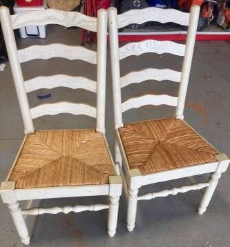 Ladderback Chairs With Rush Seats