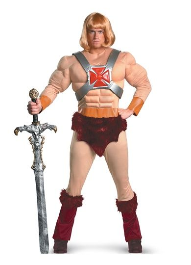 He-Man Classic Muscle Licensed Adult Halloween Costume Fancy dress - halloween costumes ideas for men