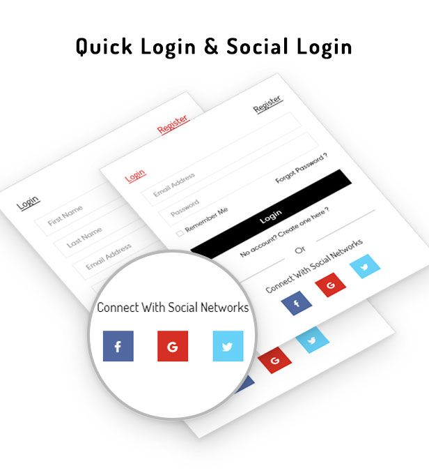 Ap Sane Multi-vendor Prestashop Theme- Quick login & Social login