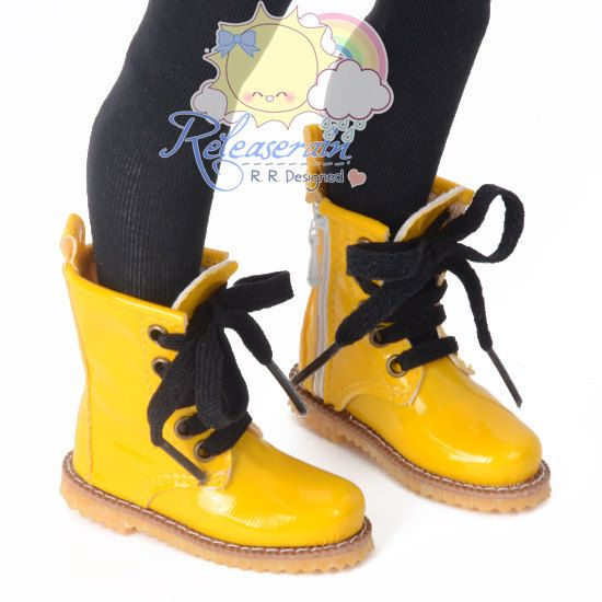 Doll Shoes Martin LaceUp Stitch Boots Patent by Releaserain, $26.99