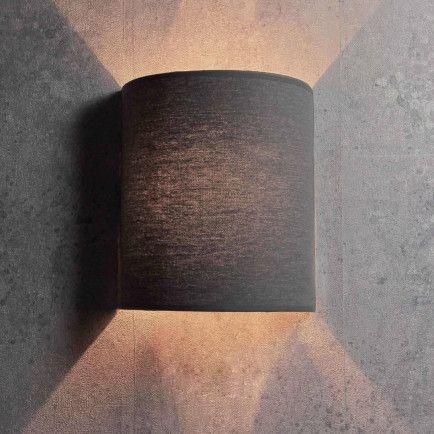 Moderne Stehlampe E27 grau Schlafzimmer Stoff Wohnzimmer
