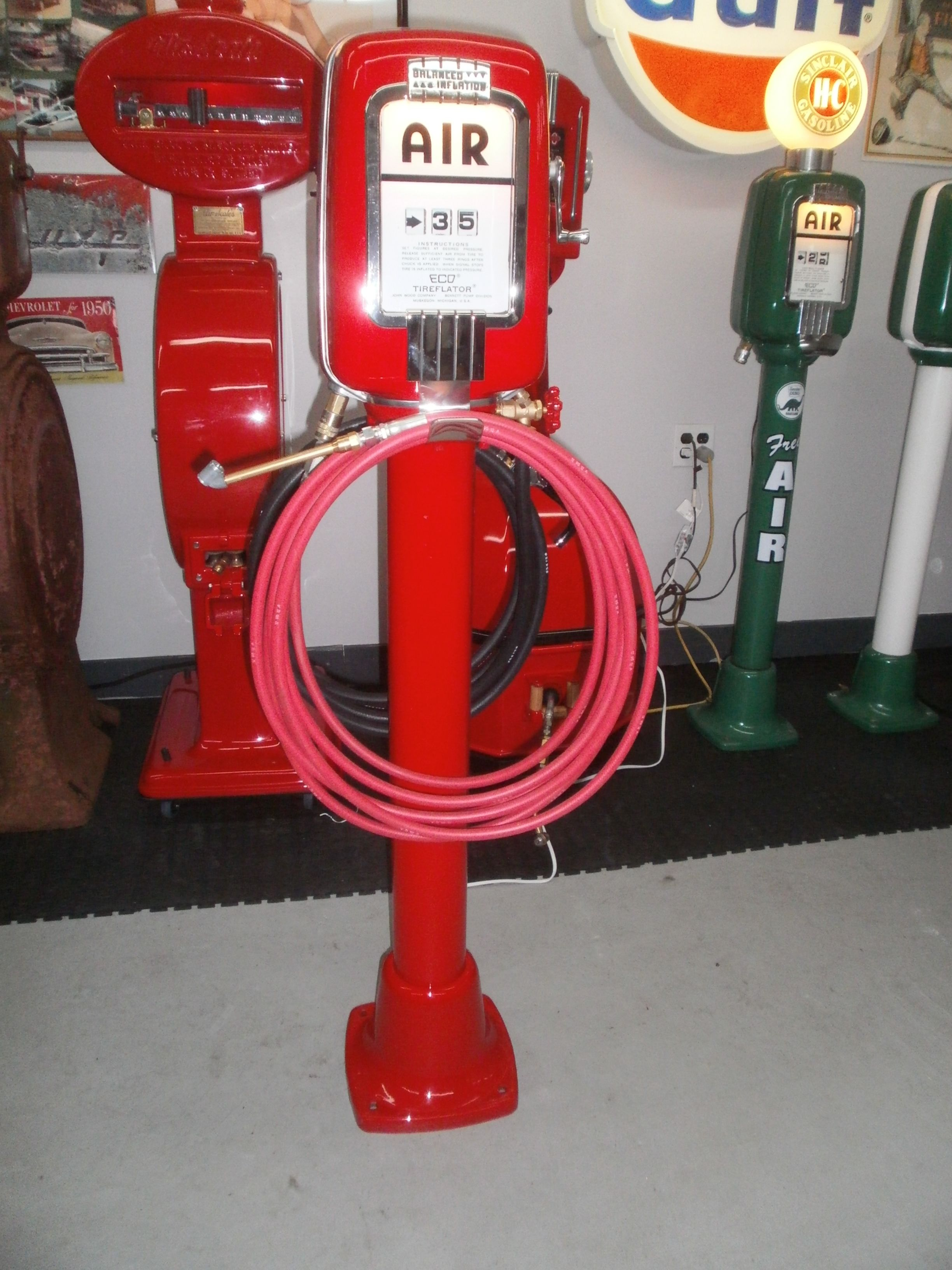 Eco Tireflator model 98w (air & water) Old gas stations