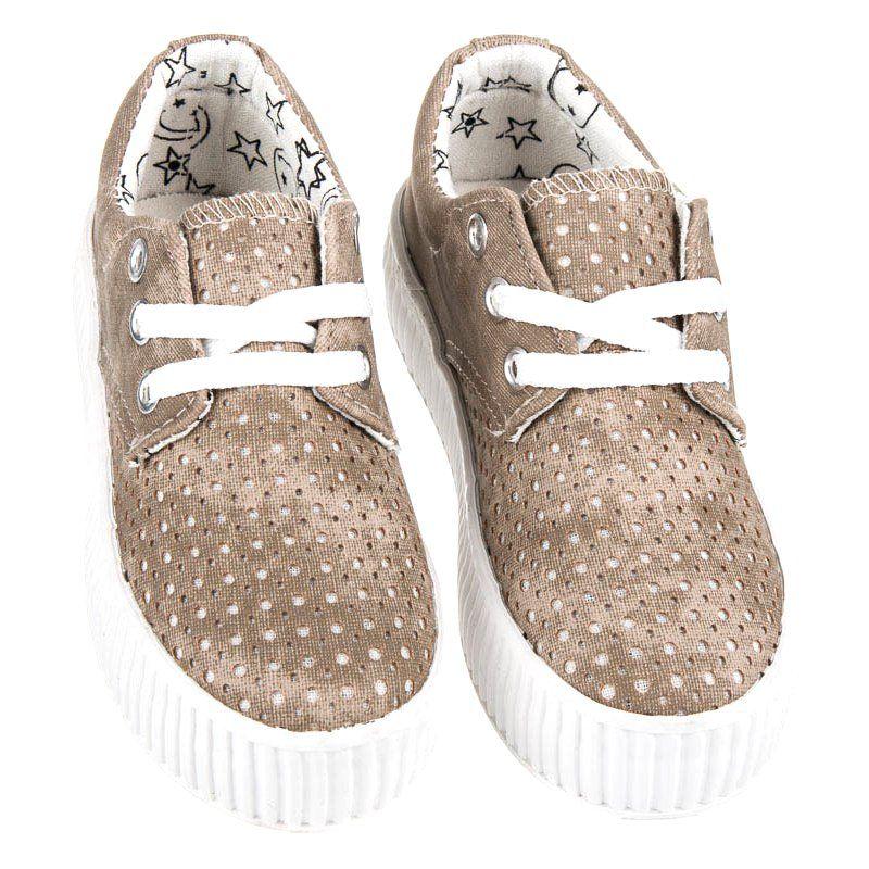 Buty Sportowe Dzieciece Dla Dzieci Kylie Brazowe Wiazane Trampki Na Platformie Kylie Adidas Sneakers Shoes Sneakers