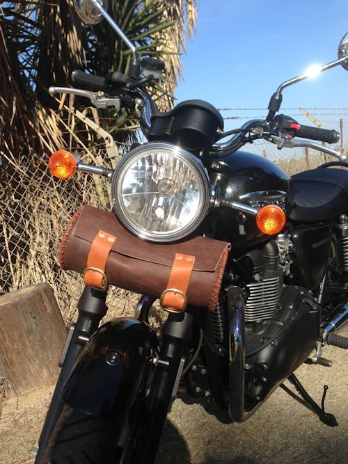 seth wegter leather bonnie bag for the triumph bonneville thruxton and scrambler