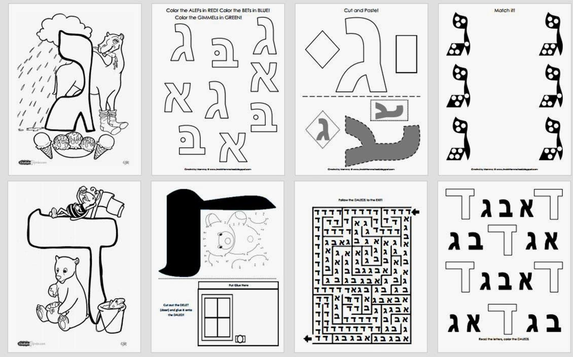 Awesome Collection of Aleph Bet Worksheets Also Letter Template ...