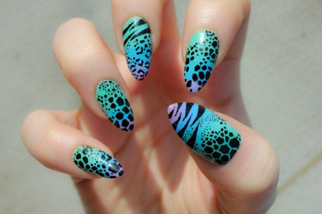 Robin Moses Nail Art: neon zebra print nail art, zebra