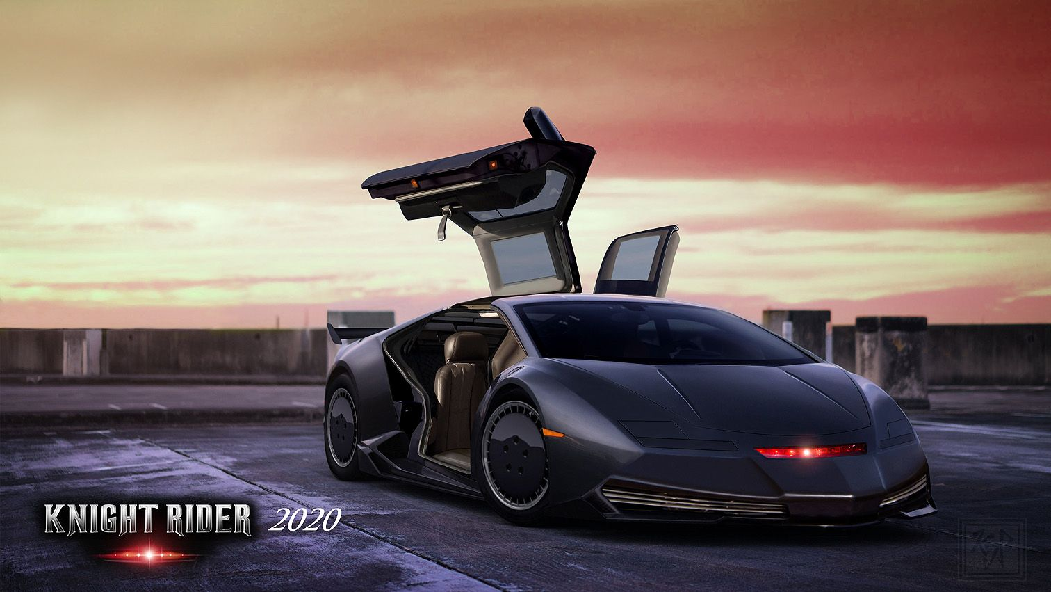 Knight Rider 2020 My Modern Version Of K I T T Passenger Door Open And Driver S Side T Top Up By Kevin Pochron 10 20 2018 Knight Rider Rider Photo