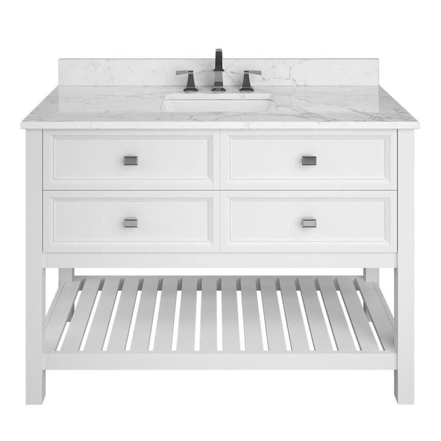Scott Living Canterbury 48 In White Single Sink Bathroom Vanity