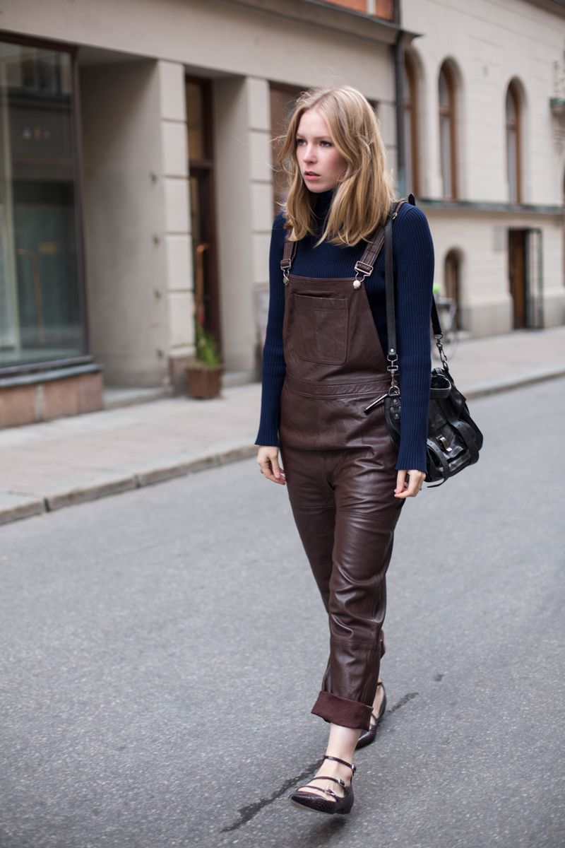 bd43fb86597 Leather Dungarees | #ootd | Leather overalls, Overalls, Fashion