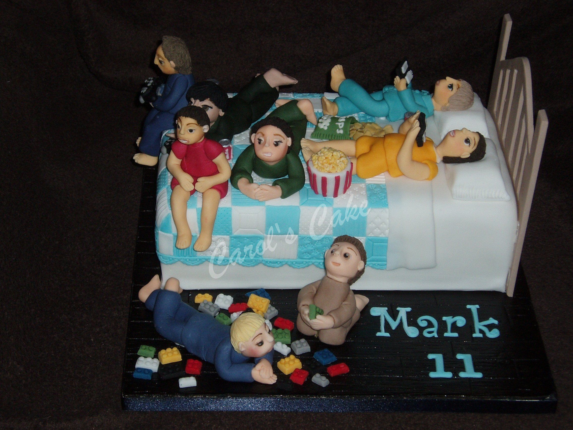 Boys Sleepover Cake How Creative Cool Birthday Ideas