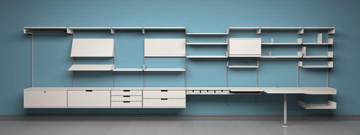 Delightful Vitsœ 606 Shelving System By Dieter Rams Modern Wall Shelves