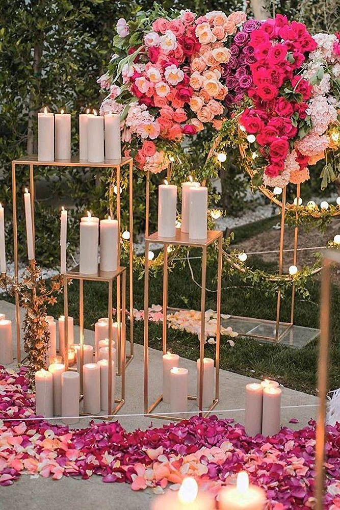 33 Glamorous Rose Gold Wedding Decor Ideas Rose Rose Petals And