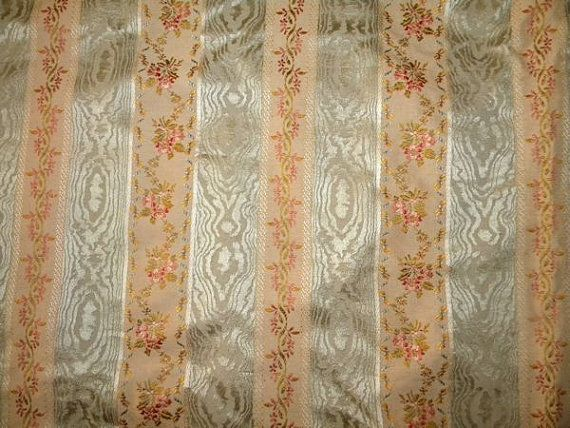 Stunning Antique French Fabric Silk Striped by RuinsCa on Etsy