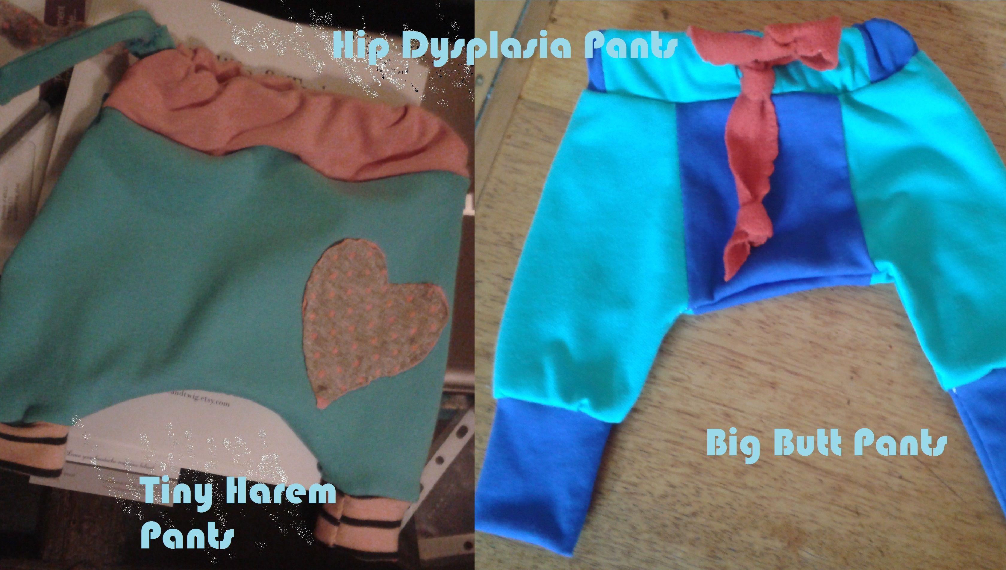 Hip Dysplasia Pants - Tiny Harem Pants Pattern - crotch dropped and ...