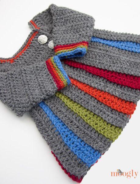 Eloise Baby Sweater :: Free crochet pattern