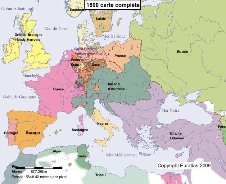 Carte De Ieurope.Carte Complete De L Europe En L An 1800 History Map Historical