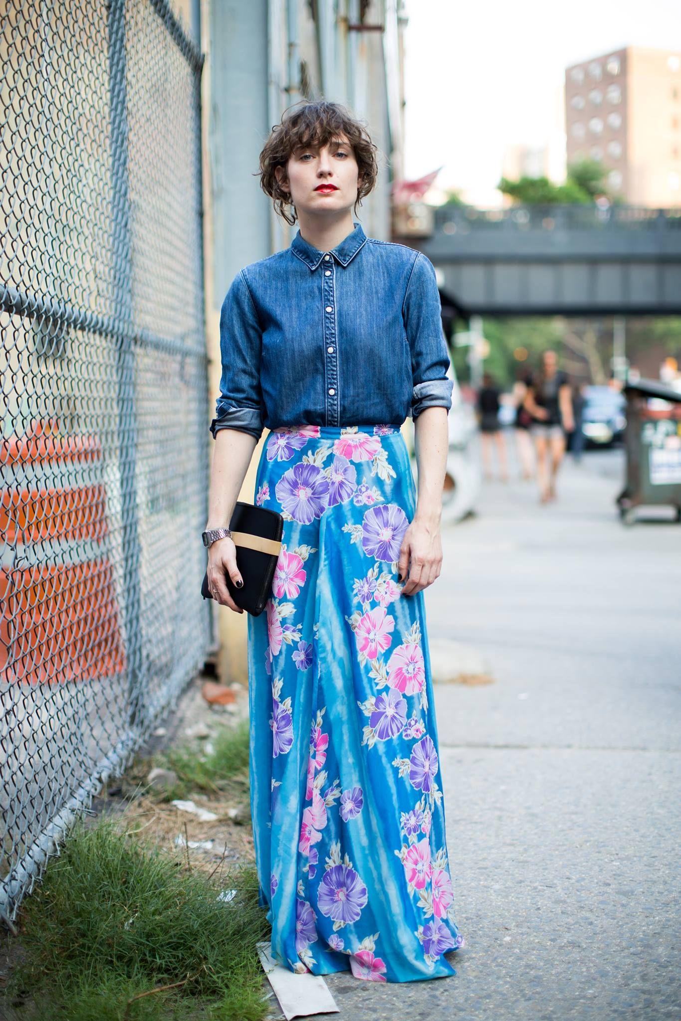 Modest Blue Maxi Skirt