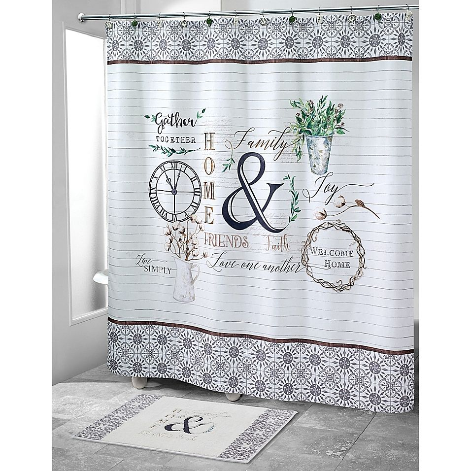 Avanti Modern Farmhouse Shower Curtain Farmhouse shower