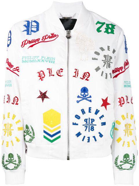 PHILIPP PLEIN Michelle Bomber Jacket. #philippplein #cloth #jacket