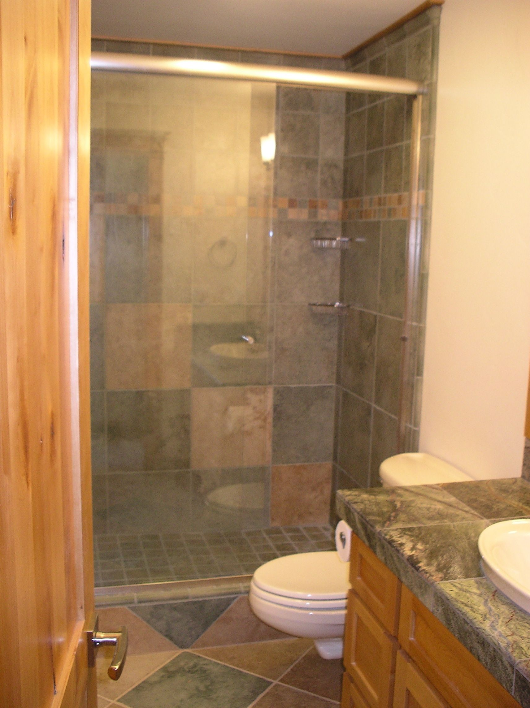 Love The Tile Workwet Bathroom Small  Google Search  Bathroom Custom Bathroom Remodeling Cost Calculator 2018