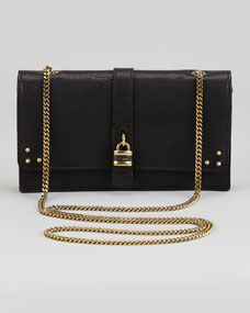 Aurore Padlock Wallet on a Chain, Black