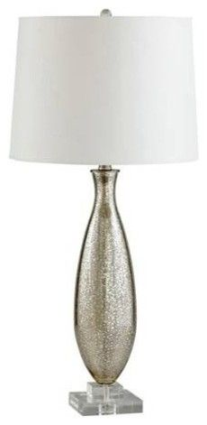 I forgot to include a lamp on my baby checklist. I found this one I like which would match well with the brown and blue :)