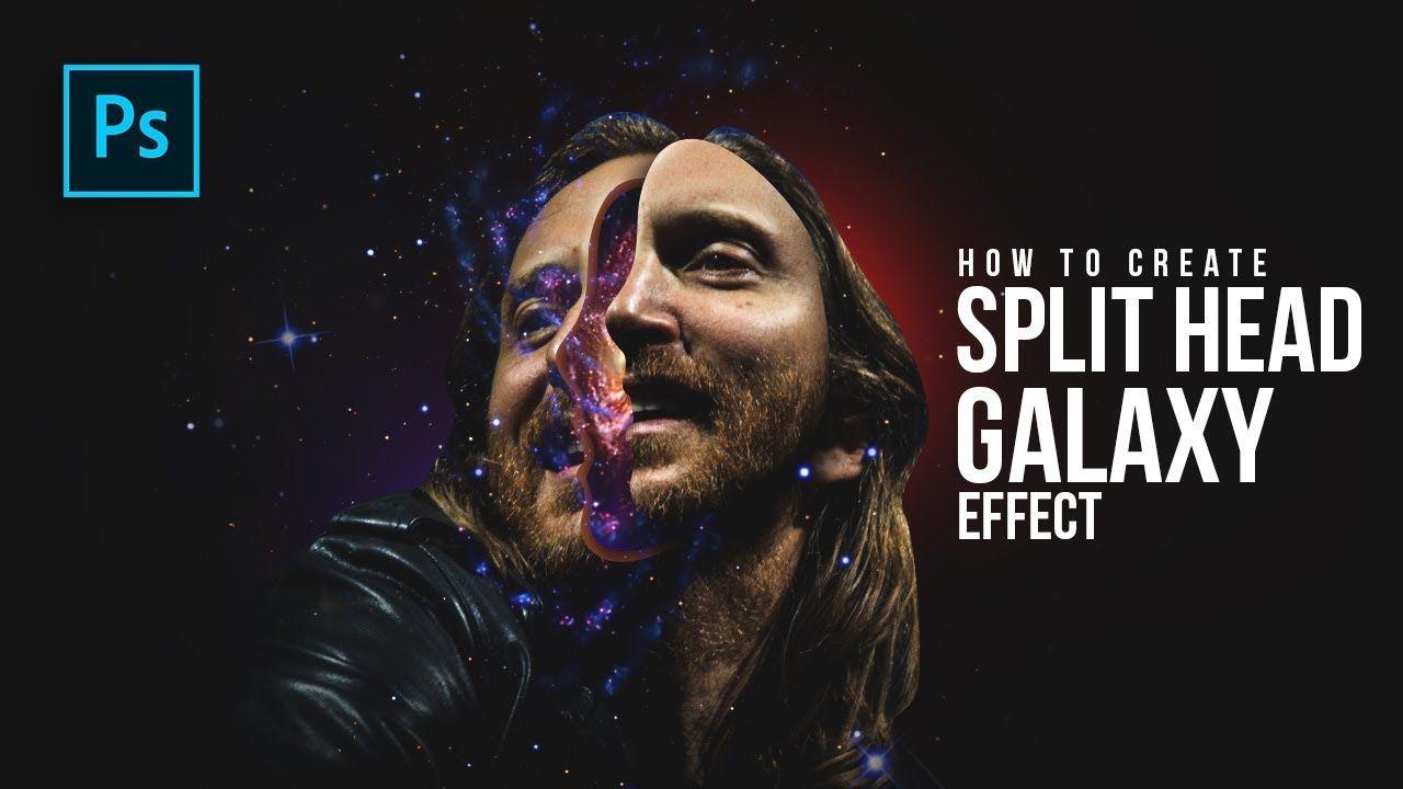 How To Create Split Head Galaxy Manipulation In Photoshop Photoshop Tu Photoshop Tutorial Photoshop Photoshop Manipulation