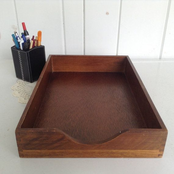 Carver Wooden Legal Desk File Tray Wood Dovetailed Walnut Colored File Bin Legal Size Walnut Color 15 1 4 X 10 3 8 X 2 1 2 With Images Wood Wooden Desk Tray