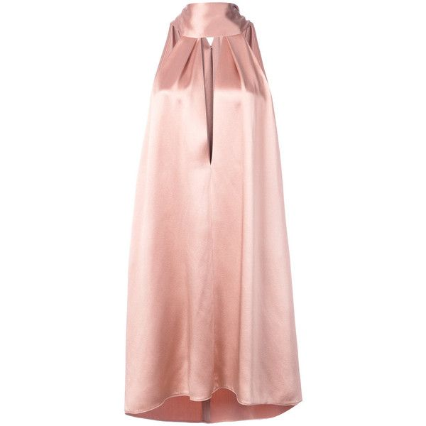 Galvan Pink Sash Neck Cocktail Dress (14.810 ARS) ❤ liked on ...
